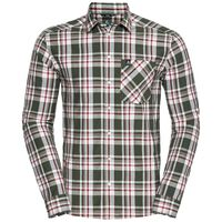 ANMORE Shirt longlsleeve men, climbing ivy - red dahlia - check, large