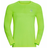 Men's ESSENTIAL SEAMLESS Long-Sleeve Running T-Shirt, lounge lizard melange, large