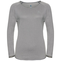 BL Top Crew neck l/s HELLE, grey melange, large