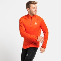 Midlayer a manica lunga con mezza zip MILLENNIUM ELEMENT da uomo, orange.com melange, large
