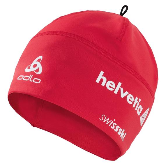 POLYKNIT FAN WARM Hat, Swiss Fan with Helvetia 2010, large