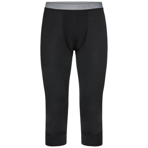 Naadloze onderkleding Driekwartbroek NATURAL 100% MERINO WARM, black, large