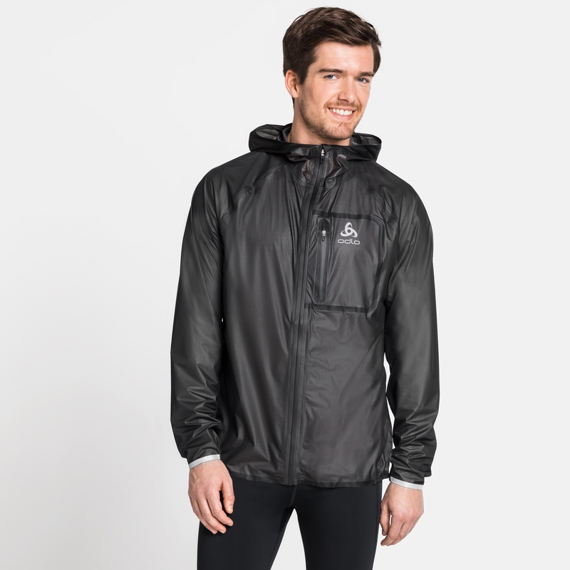 Men's ZEROWEIGHT DUAL DRY Waterproof Jacket, black, large
