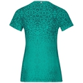BL TOP Crew neck s/s OMNIUS PRINT F-Dry, pool green - AOP SS18, large