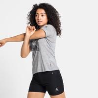 T-shirt CONCORD pour femme, stone grey melange - mountain graphic SS21, large