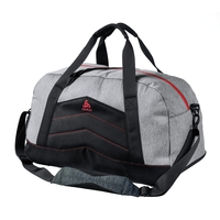 Borsa Training-34 Liters, grey melange - chinese red, large
