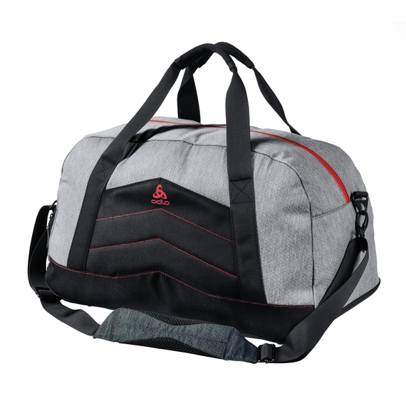TRAINING Tasche-34 Liters, grey melange - chinese red, large