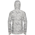 Women's FLI 2.5L Waterproof Jacket, odlo silver grey - paper print, large