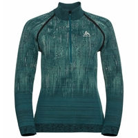 Top midlayer con mezza zip BLACKCOMB da donna, submerged - malachite green, large