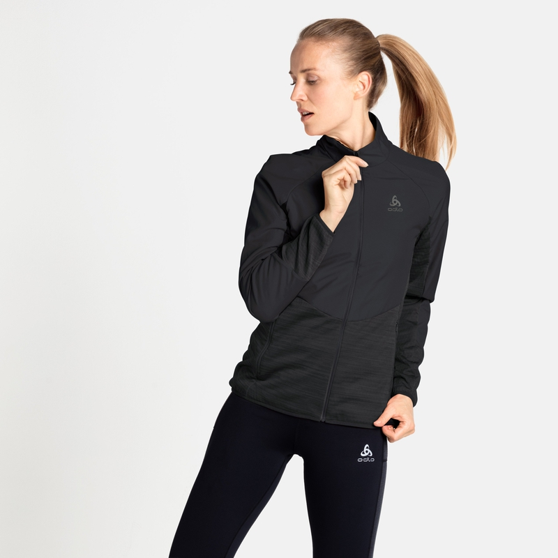 The Run Easy Warm Hybrid jacket, black, large