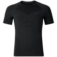 T-shirt baselayer manches courtes EVOLUTION WARM, black - odlo graphite grey, large