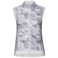 FUJIN Weste, odlo silver grey - paper print, large
