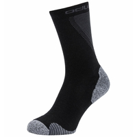 Unisex ACTIVE WARM RUNNING Crew Socks, black, large