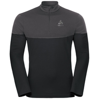 Midlayer 1/2 zip CorE LIGHT, black - odlo graphite grey, large