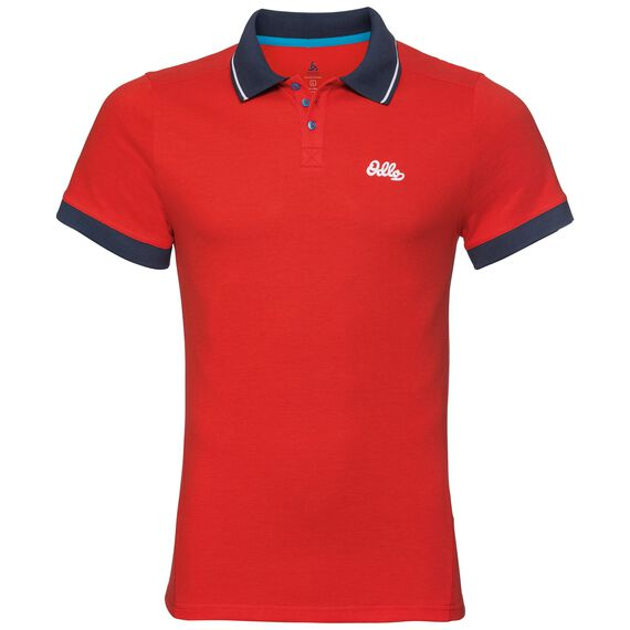 Polo s/s NIKKO, fiery red, large