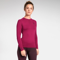 Women's PERFORMANCE WARM Long-Sleeve Baselayer Top, cerise - decadent chocolate, large