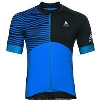 Stand-up collar s/s full zip UMBRAIL Ceramicool X-Light, energy blue - black, large