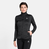Women's STEAM Midlayer, black melange, large