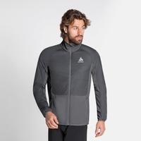 Men's MILLENNIUM S-THERMIC ELEMENT Running Jacket, odlo graphite grey - odlo steel grey, large