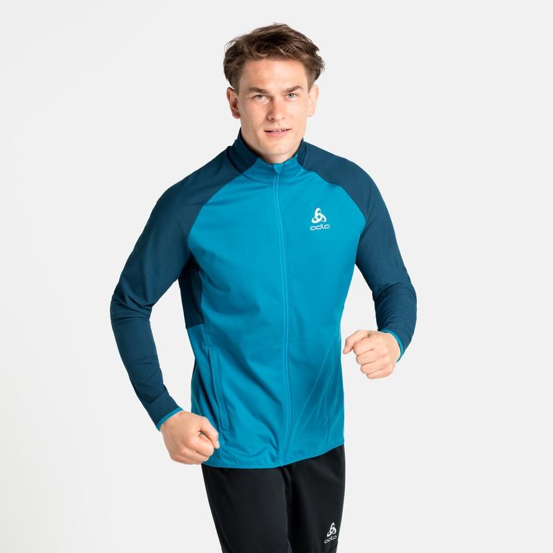Men's ZEROWEIGHT WARM HYBRID Running Jacket, deep dive - stunning blue, large