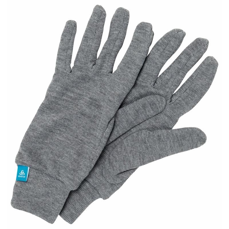 The Active Warm kids ECO gloves, odlo steel grey melange, large