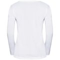 T-shirt l/s HELLE, white - placed print SS18, large
