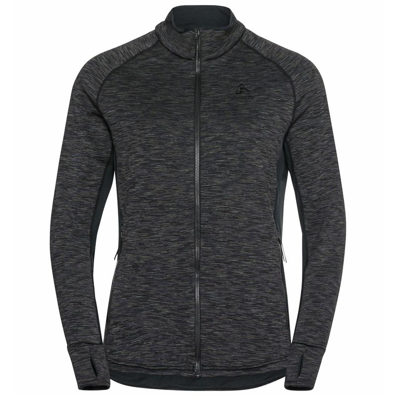 The Berra SL mid layer zip, black - space dye, large