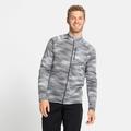 Men's FLI LIGHT PRINT Full-Zip Mid Layer, odlo silver grey - graphic SS21, large