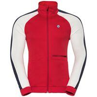 Midlayer full zip ODDVAR, chinese red - snow white, large