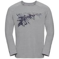 Herren CONCORD Langarm-Shirt, grey melange - mountain print SS19, large