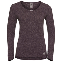 Women's LOU LINENCOOL Long-Sleeve Top, plum perfect melange, large