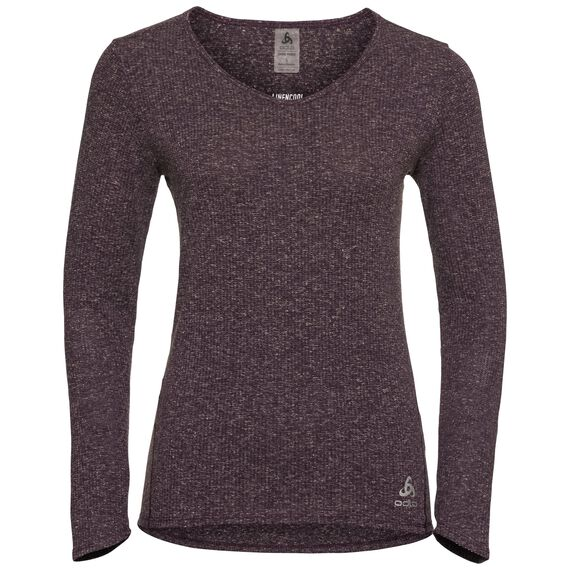 Basislaag Top l/m LOU LINENCOOL, plum perfect melange, large