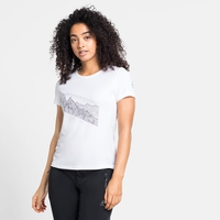F-DRY-T-shirt met print voor dames, white - graphic SS21, large