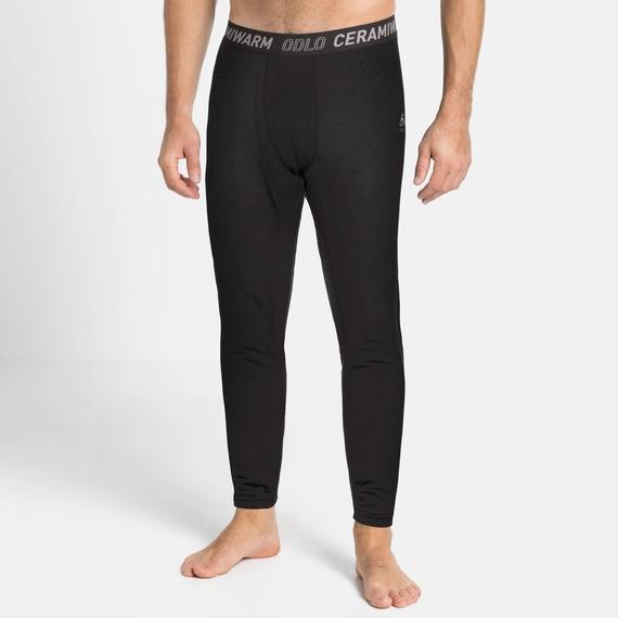 Men's ACTIVE THERMIC Baselayer Bottoms, black melange, large
