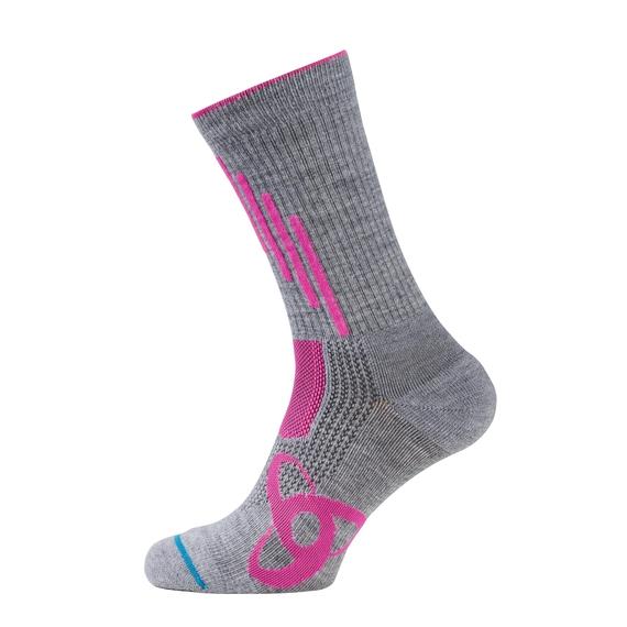 Socks ALLROUND LIGHT, grey melange - pink glo, large