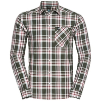 ANMORE langärmeliges Shirt Herren, climbing ivy - red dahlia - check, large