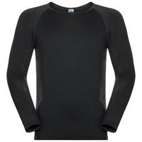 Men's PERFORMANCE ESSENTIALS WARM Long-Sleeve Base Layer Top, black - odlo graphite grey, large