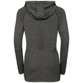 Women's IRBIS WARM Midlayer Hoody, black - odlo steel grey, large