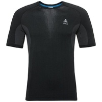Men's PERFORMANCE WARM Base Layer T-Shirt, black - odlo concrete grey, large