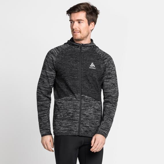 Giacca da corsa Millennium Pro da uomo, black - odlo graphite grey - odlo steel grey, large