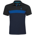 Polo NIKKO LIGHT, black - energy blue - diving navy, large