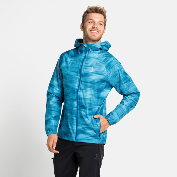 Herren FLI 2.5L WATERPROOF PRINT Hardshell-Jacke, horizon blue - graphic SS21, large