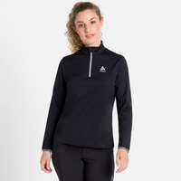 Midlayer con 1/2 zip ALAGNA da donna, black, large