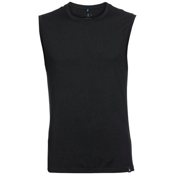 SUW TOP Crew neck Singlet NATURAL 100% MERINO WARM, black, large