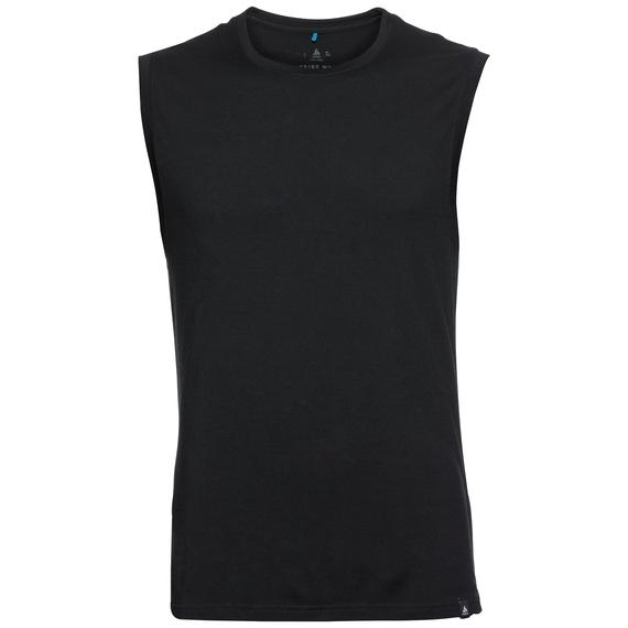 SUW TOP NATURAL 100 % MERINO WARM Unterhemd mit Rundhalsausschnitt, black, large