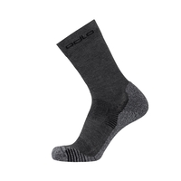 CERAMICOOL CREW Socken, odlo steel grey, large