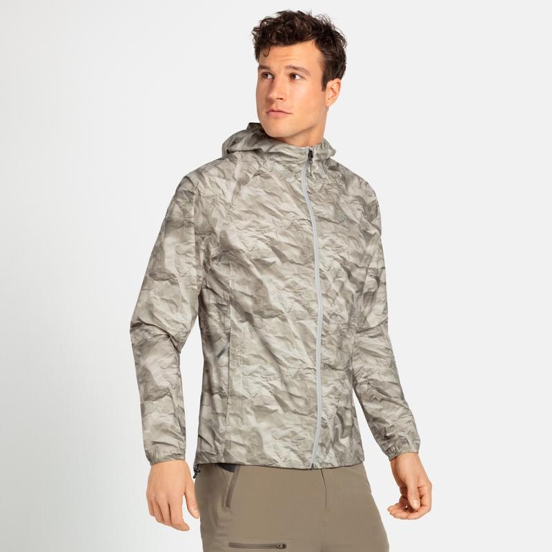 Men's FLI 2.5L Waterproof Jacket, silver cloud - paper print, large