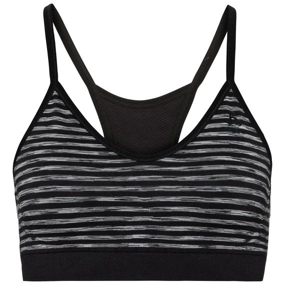 Sports Bra SEAMLESS SOFT, black - grey melange, large