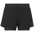 Women's ZEROWEIGHT 3 INCH BLACKPACK 2-in-1 Running Shorts, black - blackpack, large