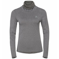 Women's ACTIVE THERMIC Turtleneck Baselayer, grey melange, large